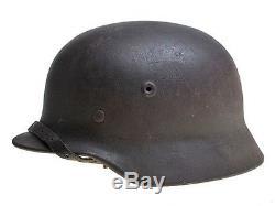 Original WW2 german M40 Q64 helmet casque, stahlhelm, elmetto