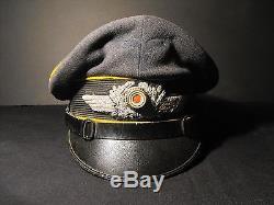 Original WWII GERMAN LUFTWAFFE FLIGHT NCO VISOR CAP