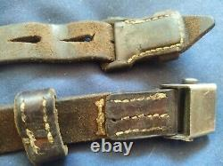 Original WWII German K98 G43 33/40 Mauser Leather Sling 1938 dated -2
