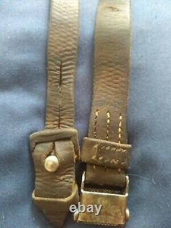 Original WWII German K98 G43 33/40 Mauser Leather Sling 1940 dated
