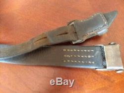 Original WWII German K98 G43 Mauser Leather Sling 98k Nice Condition 2