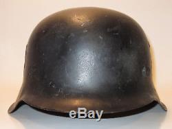 Original WWII German Military CKL66 M42 Stahlhelm Helmet with Liner