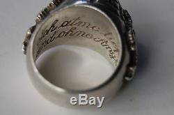 Original WWII German Officer Poison Ring Letter strictly confidentia size 14