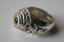 Original WWII German Officer Poison Ring Silver 835 breath deeply & do not fear