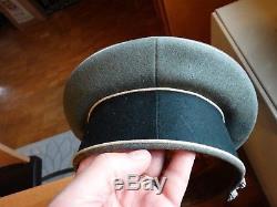 Original WWII German Officers Infantry Visor Cap