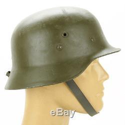 Original WWII Hungarian M38 Steel Helmet (German M35 Copy)- Size 58cm, US 7 1/4