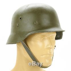Original WWII Hungarian M38 Steel Helmet (German M35 Copy)- Size 59cm, US 7 3/8