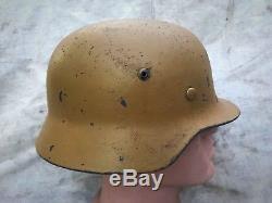 Original WWII WW2 German Helmet M35/64 DAK