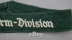 Original Ww2 German Cuff Title Fallschirm Division