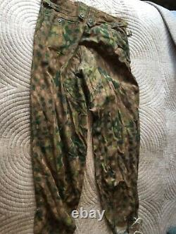 Original Ww2 German Elite Camouflage Combat Trousers