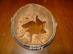 Original Ww2 German Helmet Liner, Schuberth Werke Drp. 1940 Size 56/64 Steel Ring