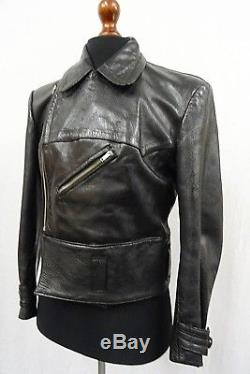 Original Ww2 German Luftwaffe Pilot Flight Flying Leather Jacket Coat 40r