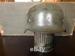 Original Ww2 German M40 Helmet Big Size 68 Rare