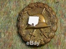 Original Ww2 German Spanish Wound Badge (gold)