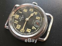 Original Ww2 Military German Luftwaffe Helvetia Pilot Aviator Watch Serviced