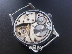 Original Ww2 Military German Swiss Watch Arsa Dh #1241 Wehrmacht Serviced
