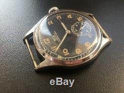 Original Ww2 Military German Swiss Watch Arsa Dh #18,222 Wehrmacht Serviced