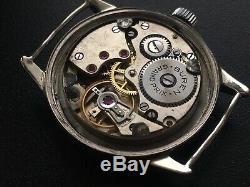 Original Ww2 Military German Swiss Watch Buren Dh Wehrmacht Working Serviced