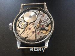Original Ww2 Military German Swiss Watch Helios Dh #15,510 Wehrmacht Serviced