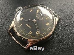 Original Ww2 Military German Swiss Watch Silvana Dh Wehrmacht Serviced