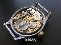 Original Ww2 Military German Swiss Watch Universal Geneve Wehrmacht Serviced