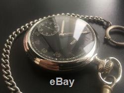 Original Ww2 Military German Swiss Wehrmacht Pocket Watch Arsa #2,930 Serviced