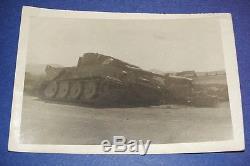 Original Ww2 Photo Knocked Out German Tiger I Tank