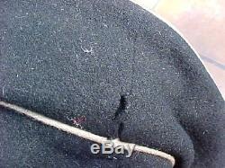 Original Wwii German Black Visor Cap