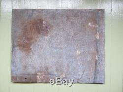Original big old vintage german wehrmacht ww2 warning railroad shield plate sign