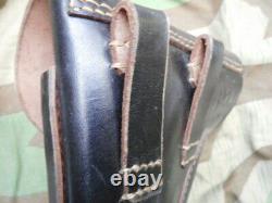 Original genuine WW2 GERMAN ARMY HEER WH ELITE TROOPS P38 LEATHER HOLSTER mint