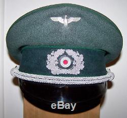 Original german WW2 military army forestry visor cap Wehrmacht Heer hat