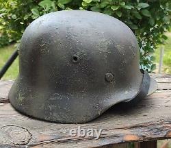 Original nice german helmet M40 size 64 have a number WW2