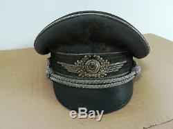 Original vintage ww2 german WEHRMACHT ARMY OFFICER VISOR HAT/CAP WWII