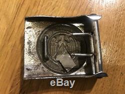 Original ww2 German Army Leather Belt/buckle With Blut Und Ehre Buckle
