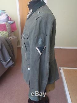 Original ww2 German Army M36 tunic with its original collar tabs