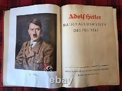 RARE German Adolf Hitler Book 1935 World War 2 Memorabilia WW2 Collectible