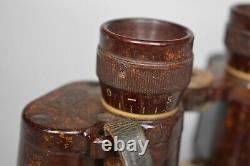 RARE Late WWII German 6x30 Bakelite Dienstglas Binoculars CXN WW2 Original 1944