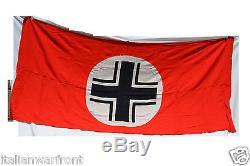 Rare Original German Wwii Panzer Vehicle Identification Flag Balkan Cross