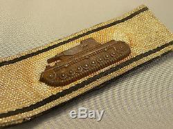 Rare Original Ww2 German Tank Strip In Silver