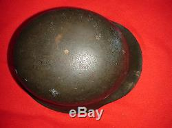 RARE Original 100% German WWII Heer/Waffen Late War M42 Helmet SIZE 54