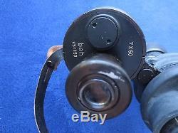 Rare Ww2 Original German Kriegsmarine Dienstglas Military Binoculars And Case