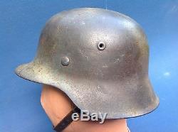 Rare Ww2 Totally Original German Luftwaffe Infantry D-day Helmet & Liner