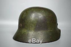 RARE WWII German Camouflage M40 Heer SD Camo Helmet Original Battle of Berlin