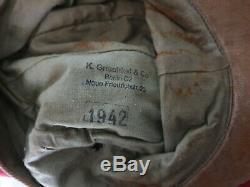 Rare German Afrikakorps Kriegsmarine M41 field cap complete 100% original ww2