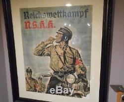 Rare Original German Ww2 Nskk Motorgroup Poster