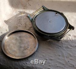 Rare & Original MINERVA WW2 German Wehrmacht DH serial watch guilt dial PATINA
