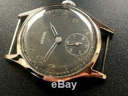Rare Original Ww2 Military German Luftwaffe Swiss Watch Dogma (d) Wehrmacht Serv