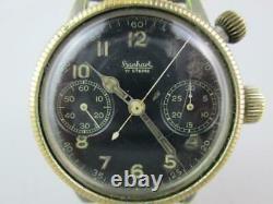 Rare WW2 Luftwaffe German Chronograph Pilot Watch by Hanhart Circa 1941