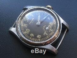 Rare Woman Original Military German Watch Etanche 150 (dh) Wehrmacht Ww2 Working