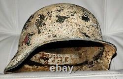 Restored original German Helmet M35/64 Winter WW2 Wehrmacht Original Dug relic